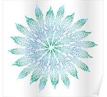 Feather Flower: Frost Burst Poster