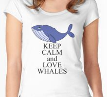 Keep calm and love whales Women's Fitted Scoop T-Shirt
