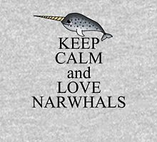 Keep calm and love narwhals Women's Fitted Scoop T-Shirt