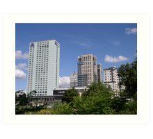 Warszawski Hilton i Platinum Towers Art Print