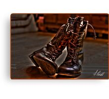 Ye Old Boots HDR Canvas Print