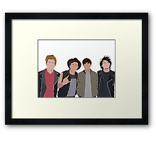 5 seconds of summer minimalists Framed Print