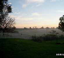 Misty country morning by debkauble