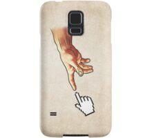Funny 8bit Nerd & Geek Humor (Creation of Adam Parody) Samsung Galaxy Case/Skin