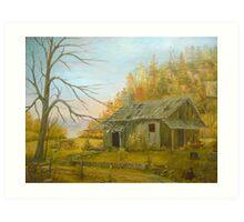 Cabin in the Hills Art Print