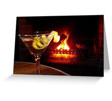Night time martini Greeting Card