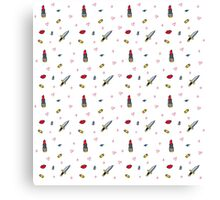 Lipstick and Bullets Canvas Print