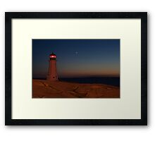 Shining Her Light Under The Stars of Night Framed Print