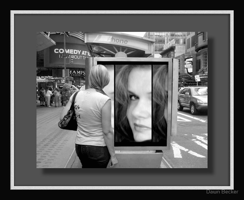 My face in New York...©  by Dawn M. Becker