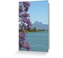 Tweed River & Jacuranda 1 Greeting Card