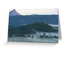 Mt Warning misty valley 1 Greeting Card