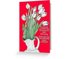 A pitcher of Tulips Greeting Card
