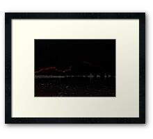 A Flash Across The Bay Framed Print
