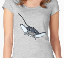 Manta ray chibi Women's Fitted Scoop T-Shirt