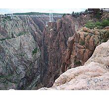 Royal Gorge, Colorado with Arkansas River at Bottom Photographic Print