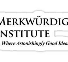 The Merkwurdigliebe Institute Sticker