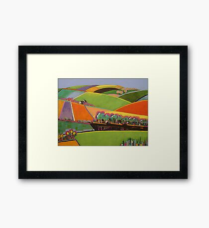 In the Beginning there was Orange - Moorooduc  - SOLD Framed Print