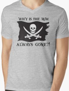 Why IS the rum always gone?! Mens V-Neck T-Shirt