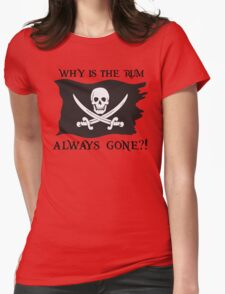 Why IS the rum always gone?! Womens Fitted T-Shirt