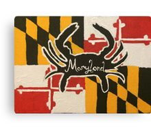 Maryland Flag Background Crab Canvas Print