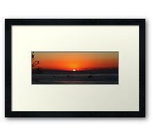Fishing Boats At Sunrise Framed Print