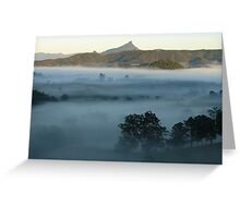 Mt Warning misty valley 3 Greeting Card