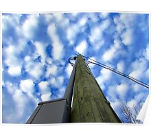 Tall Pole in the Blue Sky Poster