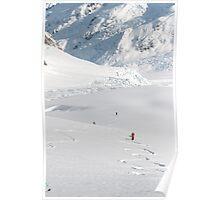 Skiing the Tasman Glacier Poster
