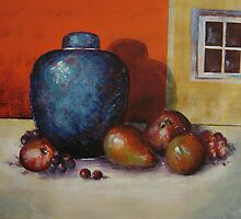 Ginger Jar and Fruit by Pauline Marlo-Monten