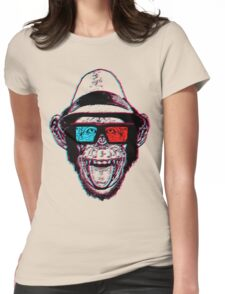 HIPSTER CHIMP - THE CHIMPSTER Womens Fitted T-Shirt