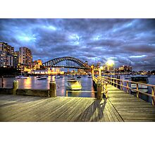 Boardwalk City Lights Photographic Print