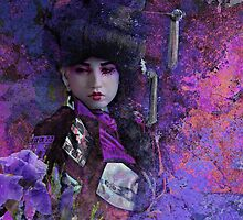 Geisha with Iris by Jeff Burgess