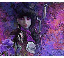 Geisha with Iris Photographic Print