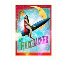 Miss Firecracker Art Print