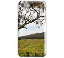 Vineyard Landscape in Springtime iPhone Case/Skin