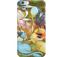 Eveelution Nap Time iPhone Case/Skin