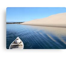 Sand Dune with Boat Canvas Print
