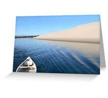 Sand Dune with Boat Greeting Card