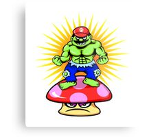 Mario hulk cartoon character Metal Print