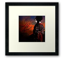 Geisha with Quince - resubmit Framed Print