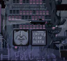 Echoes from Neals Pixel Art by Valenberg Sticker