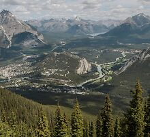 Banff from the chair lift by Sandra Johnston