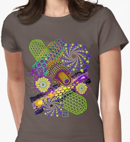 """Nanotubes 1 - PURPLE""© Womens Fitted T-Shirt"