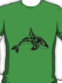 Orca Whale Tribal Design  T-Shirt