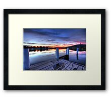 Empty Boardwalk Framed Print