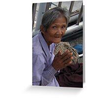 Thailand-Bangkok sidewalk vendor Greeting Card