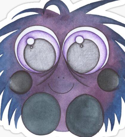 Purple fluff Sticker
