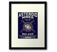 Asteroid Mining Framed Print