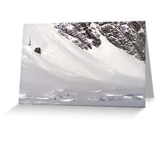 Skiing the Tasman Greeting Card