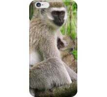 Mother and Baby Vervet Monkey iPhone Case/Skin